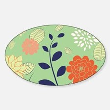 Colorful Retro Floral Design Decal
