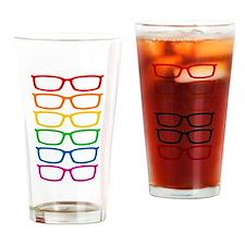Rainbow Eyeglasses Drinking Glass