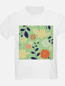 Colorful Retro Floral Design T-Shirt