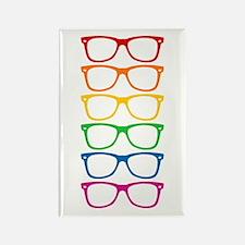 Eyeglasses Rainbow Rectangle Magnet