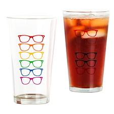 Eyeglasses Rainbow Drinking Glass