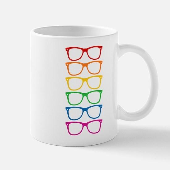 Eyeglasses Rainbow Mugs
