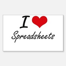 I love Spreadsheets Decal