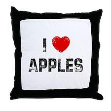 I * Apples Throw Pillow