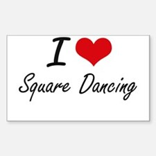 I love Square Dancing Decal
