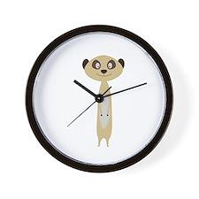 Cute little Meerkat Wall Clock