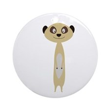 Cute little Meerkat Round Ornament