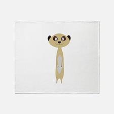 Cute little Meerkat Throw Blanket