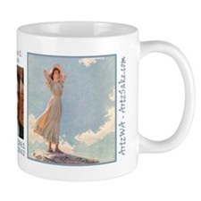 Woman on top of a Mountain by Curran Mug