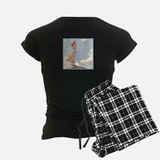 Woman on top of a Mountain b Pajamas