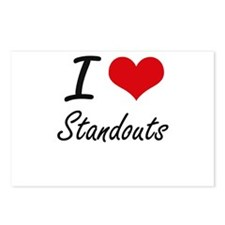 I love Standouts Postcards (Package of 8)