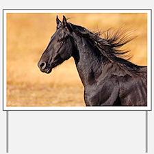Unique Friesian horse Yard Sign