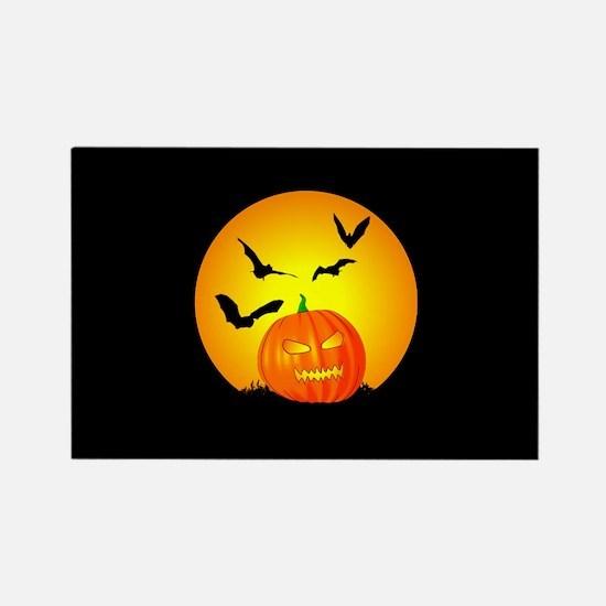 Halloween Moon Jack-O-Lantern Magnets