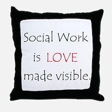 Social Work is Love Throw Pillow