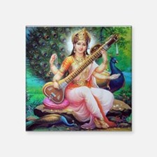 "Unique Saraswati Square Sticker 3"" x 3"""