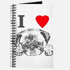 I Love Pugs Journal