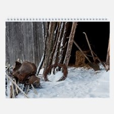 Vintage American Barns Wall Calendar