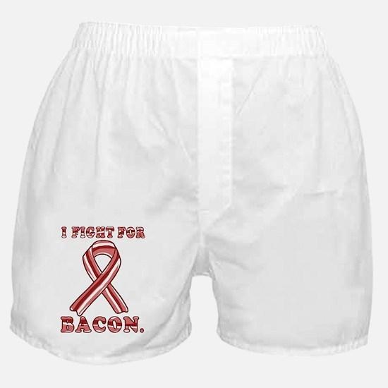 BACON AWARENESS CANCER RIBBON Boxer Shorts