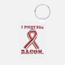 BACON AWARENESS CANCER RIBBON Keychains