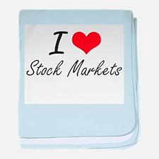 I love Stock Markets baby blanket