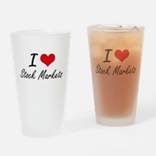 I love Stock Markets Drinking Glass