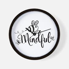 Bee Mindful Wall Clock