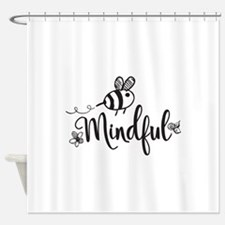 Bee Mindful Shower Curtain