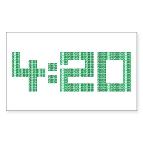 420 - Green logo Rectangle Decal by getbud