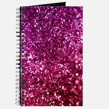 Pretty Pink Glitter Journal