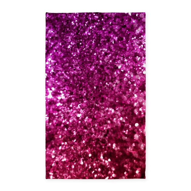 Pretty Pink Glitter Area Rug By Admin_CP68870216