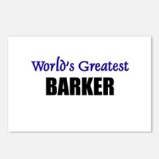 Worlds Greatest BARKER Postcards (Package of 8)