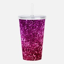 Pretty Pink Glitter Acrylic Double-wall Tumbler