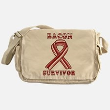 BACON AWARENESS CANCER RIBBON Messenger Bag