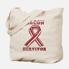 BACON AWARENESS CANCER RIBBON Tote Bag