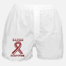 BACON AWARENESS CANCER RIBBON Boxer Shorts