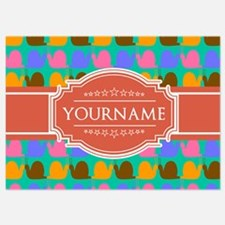 Personalized Name Snail Pattern Invitations