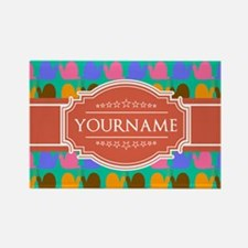 Personalized Name Snail Pattern Rectangle Magnet