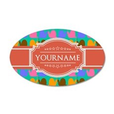 Personalized Name Snail Patt Wall Decal