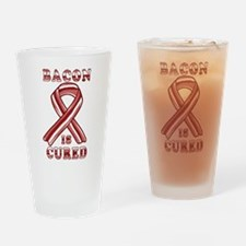 BACON AWARENESS CANCER RIBBON Drinking Glass