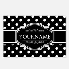 Custom Black and White Po Postcards (Package of 8)