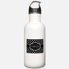 Custom Black and White Water Bottle