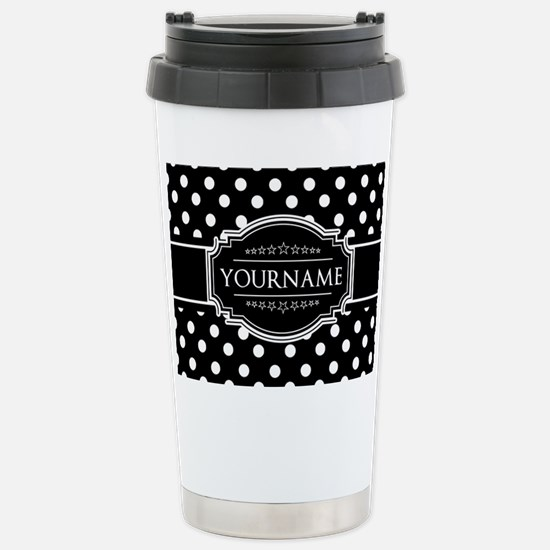 Custom Black and White Stainless Steel Travel Mug