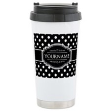 Custom Black and White Thermos Mug