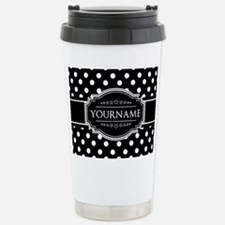 Custom Black and White Travel Mug