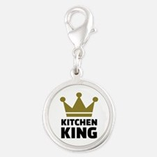 Kitchen king Silver Round Charm