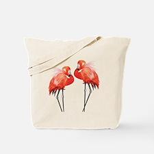 Two Pink Flamingos Tote Bag