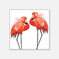 Two Pink Flamingos Sticker