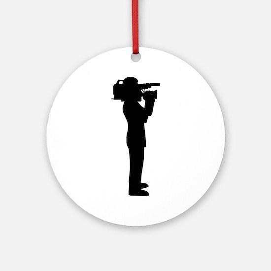 Cameraman Round Ornament