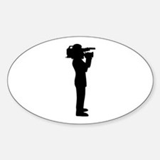 Cameraman Sticker (Oval)