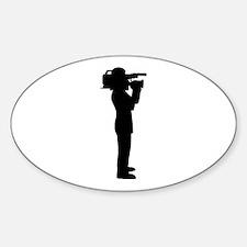 Cameraman Sticker (Oval)